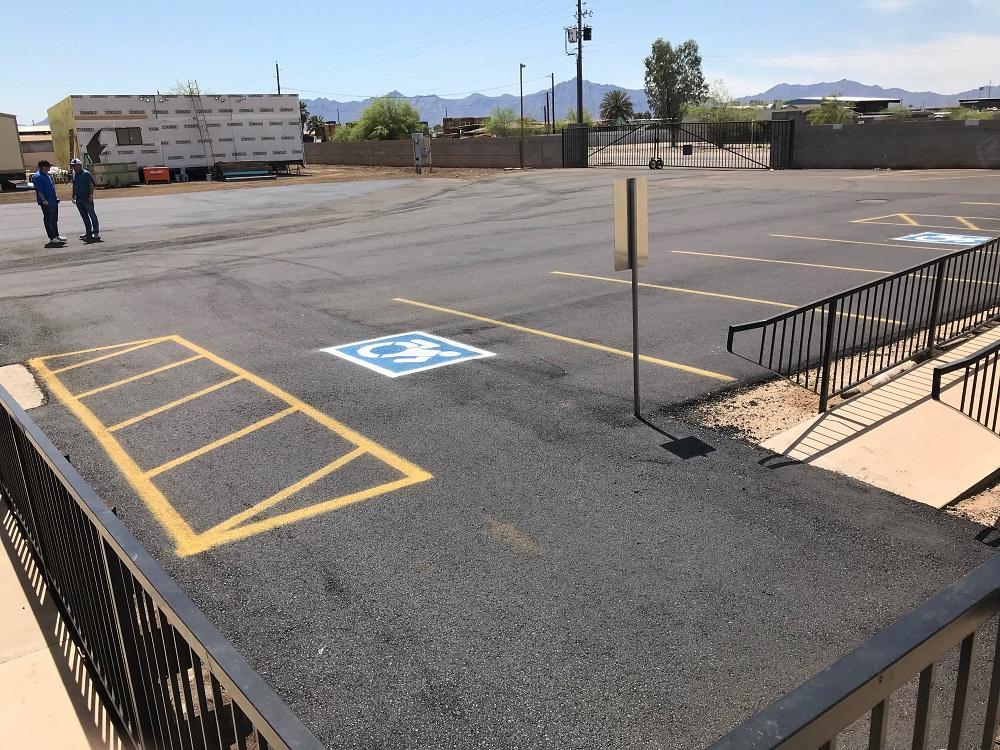 asphalt parking lot fort collins